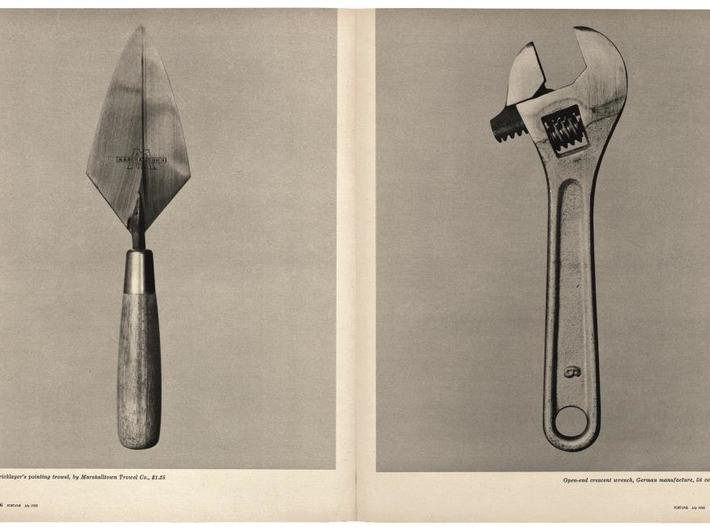 """Walker Evans, """"Beauties of the Common Tool,"""" //Fortune//, July 1955. Courtesy of The Metropolitan Museum of Art"""