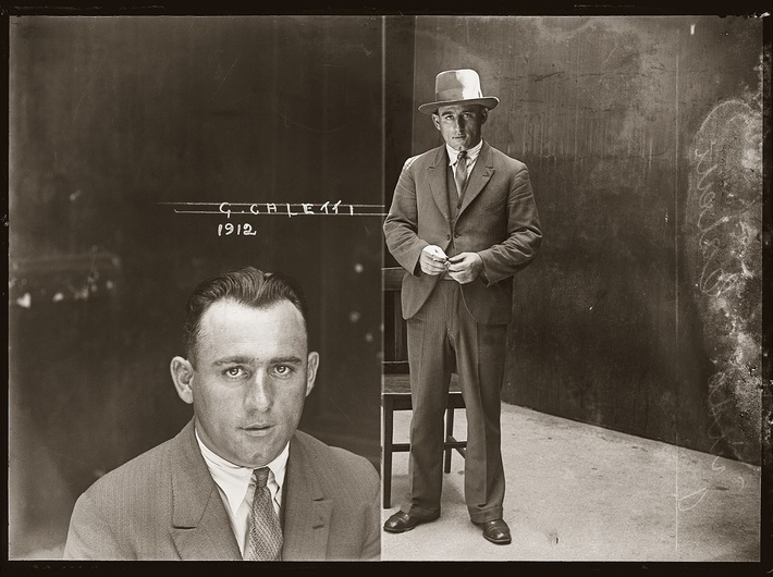 Guido Calletti, photograph no. 1912, probably January 1930, Central Police Station, Sydney