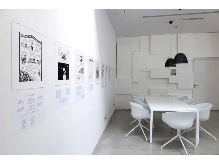 //Poland – Israel – Germany: The Experience of Auschwitz// exhibition, MOCAK Library