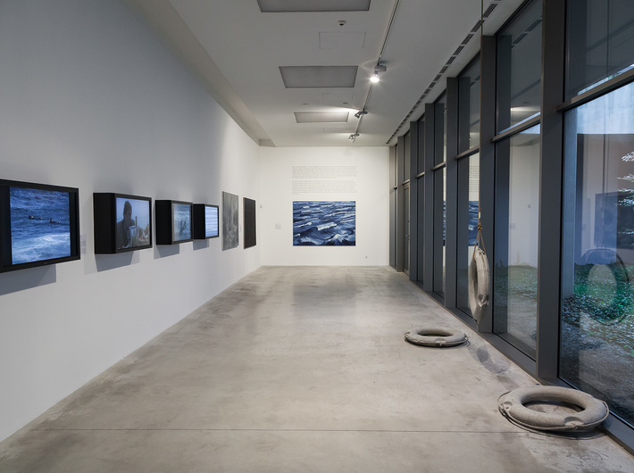 The view of the exhibition //The Sea//, photo: Rafał Sosin